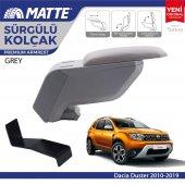 Matte Dacia Duster 2010 2019 Delmesiz Çelik Ayaklı Gri Kolçak Kol Dayama