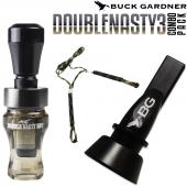 Buck Gardner Double Nasty 3 Ördek Düdüğü Seti Smoke Black