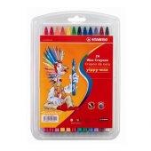 Stabilo Yippy Wax Mum Boya 24 Renk Asklı Paket