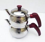 Desenli, Küre Çelik Çaydanlık Takımı, Mor