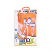 Nerox Fuşya Çoklu Telefon Şarj Kablosu Nrx 5147...