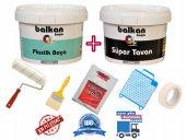 Balkan Plastik Boya 20 Kg + Tavan Boyası 17,5 Kg Ve Boya Seti