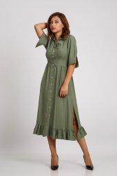 Hotfashıon Kadın Haki Elbise 330026099