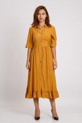 Hotfashıon Kadın Hardal Elbise 330026099