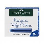 Faber Castell Dolma Kalem Kartuş 6 Li Royal Mavi 18 55 06
