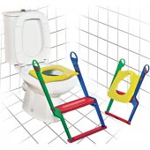 Tuvalet Alıştırıcı Çocuk Tuvalet Eğitimi Merdivenl...