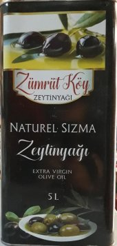 Zümrüt Köy Naturel Sızma Zeytinyağı 5 Lt