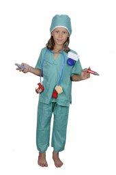 Unisex Erkek Kız Çocuk Cerrah Ameliyat Kostümü