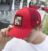 Deepsea Kırmızı Çerçeveli Tilki Desen Ayarlanabilir Boyut Fileli Şapka 1908790