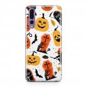 Huawei P20 Pro Kılıf Silikon Arka Koruma Kapak Halloween Cadılar