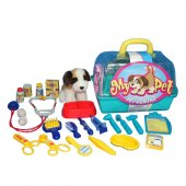 21021 Sun Kwy Oyun Set My Pet Peluş Köpek Ve Veteriner Çantalı