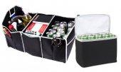 Oto Buzluk Araç İçi Buzdolabı Araç Bagaj Organizer Üç Cepli Çanta