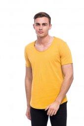 Bisiklet Yaka Sarı Erkek Tişört