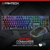 Fantech Mvp 862commander Mekanik Gaming Oyuncu Klavye Mouse Set
