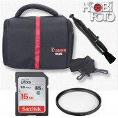 Canon 650d İçin Set Çanta+16 Gb Sd Class 10+ Lenspen+ Uv Filtre