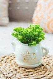 Tea Time Yeşil Yapay Şimşir