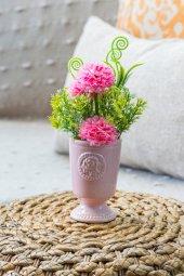 Pembe Porselen Saksılı Gardenya