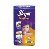 Sleepy Sensitive Bebek Bezi 2 Numara Mini Ped Hediyeli 42 Adet