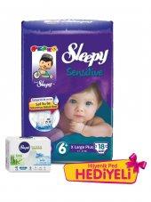 Sleepy Sensitive Bebek Bezi 6 Numara X Large Plus Ped Hediyeli 18