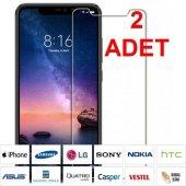 2 Adet Samsung Galaxy A8 Kırılmaz Tamperli Ekran Koruyucu Cam