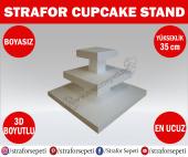 Strafor Sepeti Strafor Cupcake Standı Boy 35 Cm Boyasız, Strafor Dekor, Strafor Parti, Strafor Doğum Günü