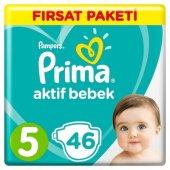 Prima 5 Beden 46 Adet (11 16 Kg) Aktif Bebek Bezi