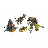 Ljw75938 Jw T. Rex İle Dinozor Robotu Savaşı Juras...