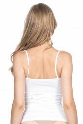 Emay Kadın Beyaz Dikişsiz İnce Askılı Atlet 5011