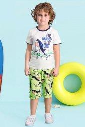 Roly Poly Erkek Çocuk Krem Rengi Kapri Pijama Takımı 1415