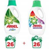 Ariel Renkli Beyaz Sıvı Çamaşır Deterjanı 26 Yıkama X2