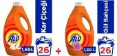 Alo Sıvı Çamaşır Deterjanı Gül Ve Kar Çiçeği 1,69l 26 Yıkama X2
