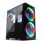Dark Prestige 2x20cm Adreslenebilir Rgb Fanlı, Full Cam Ön Ve Yan Panelli, Usb 3.0 Bilgisayar Kasası (Dkchprestıge)