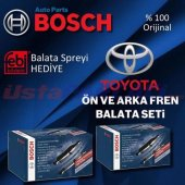 Toyota Corolla Auris Bosch Ön Arka Fren Balata Tak...