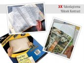 Yüksek Kontrastlı Kitap Okuma Büyüteci