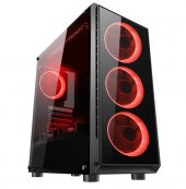 Gaming 400w Psu 4xsingle Color Red Fan 1x3.0 Usb M...