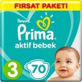 Prima Bebek Bezi Aktif Bebek 3 Beden 70 Adet Midi ...
