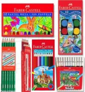Faber Castell 6 Parça Set Okul Kırtasiye Kuru Sulu Boya Kalem
