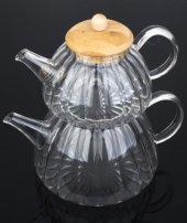 Acar Cam Çaydanlık Set