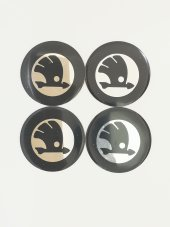 Skoda Siyah 54mm Jant Sticker