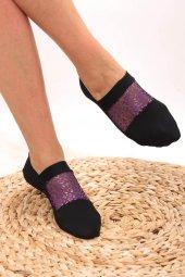 Piaff Kadın Leopar Detaylı Babet Çorap Pf2008