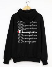 Champion Back Printed Sweatshirt Siyah