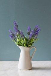 Italyan Saksıda Mor Nemesia Yapay Çiçek