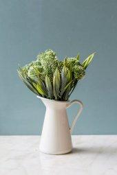 Italyan Saksıda Yeşil Allium Yapay Çiçek