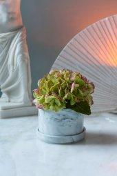 Beyaz Mermer Desenli Vazo