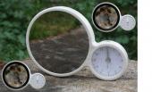 Sihirli Dokunmatik Led Işıklı Saat Ayna Fotoğraf Çerçeve
