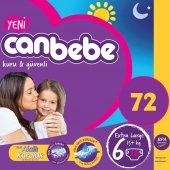 Canbebe Jumbo Bebek Bezi No 6 X Large 72 Adet (15kg+) 18*4